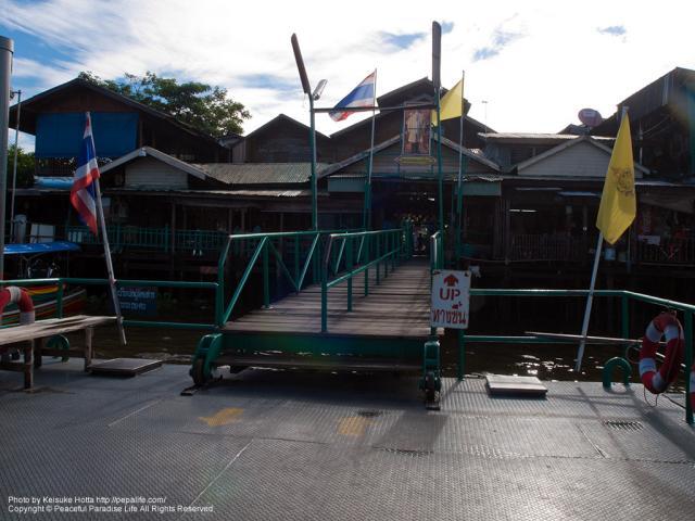 ワット・アルン(Wat Arun)の対岸の船着場