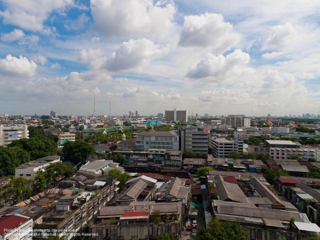 ワット・サケット(Wat Saket/黄金の丘)の頂上からの眺望