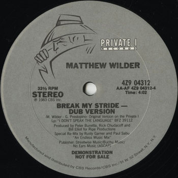 DG_MATTHEW WILDER_BREAK MY STRIDE_201306