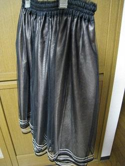 SOVチュールスカート黒