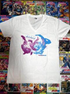 JOJOraDIOスペシャルイベントグッズ「ジョジョTシャツ 第2部」全体