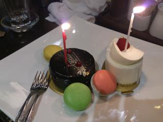 三六からのサプライズケーキ