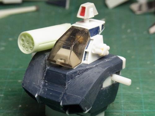 ダグラム頭部・ミサイルポッド