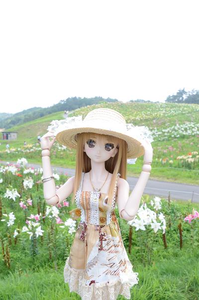 小隠里@びわこ箱館山ゆり園へ
