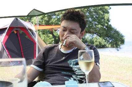 13jun琵琶湖キャンプワインと仁