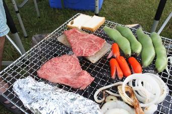 13junキャンプ近江牛BBQ