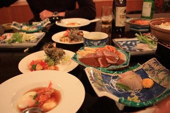 2013大晦日山中湖荘夕食