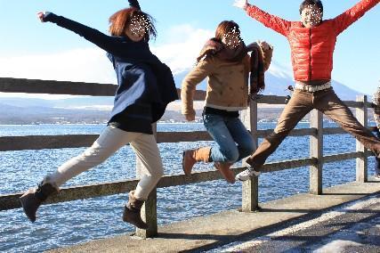 2014山中湖荘元旦ジャンプ