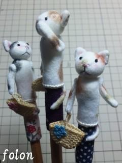 三毛猫鉛筆キャップ05