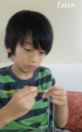 編み物の貴公子Rin(笑)