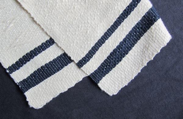 スラブ糸のランチョンマット糸始末 表裏