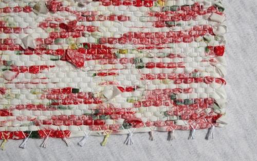 イチゴの裂き織り 裏