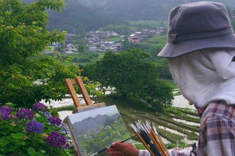 棚田であぜ道アート 2013 その1