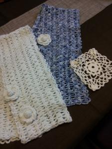 編み物マフラー生徒さん