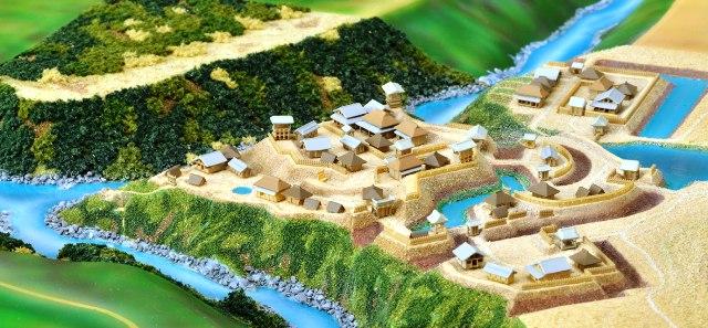 長篠城模型①