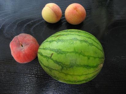 西瓜  桃