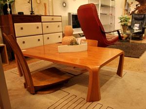 天童木工〉Tendo 座卓 センターテーブル 乾三郎 ケヤキ板目