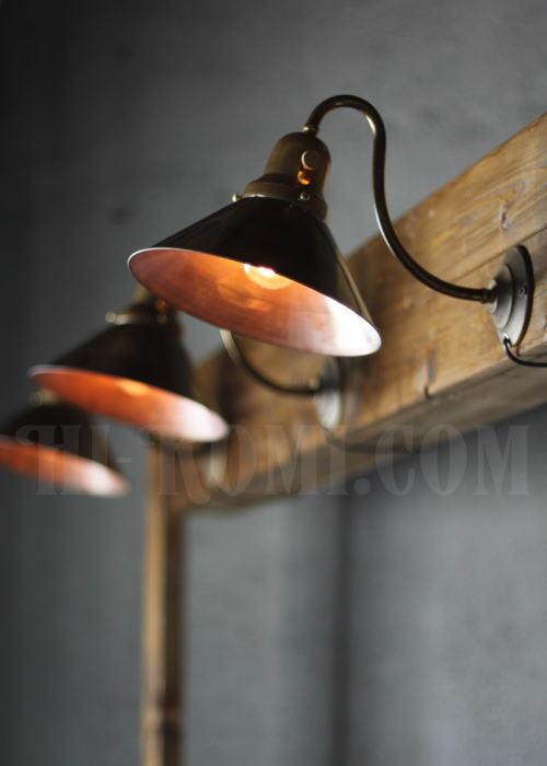 ヴィンテージ工業系真鍮シェード&ベル型カップ壁掛ライトC/アンティーク照明 Hi-Romi.com(ハイロミドットコム)アンティークランプ、ライト照明、灯り、修理、製作、リモデリング、オーバーホール、店舗設計、照明