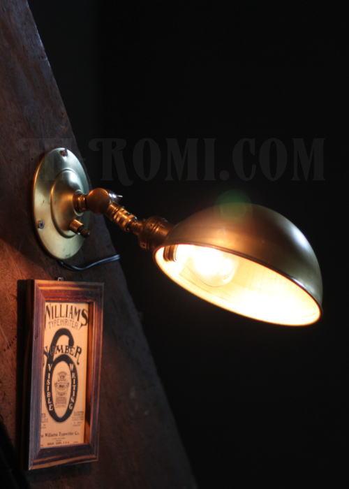 USAインダストリアル真鍮製角度調整付ブラケット 工業系壁掛ライト 照明計画 店舗設計 新築 新居 関西 神戸 Hi-Romi.com ハイロミドットコム 20130528-2