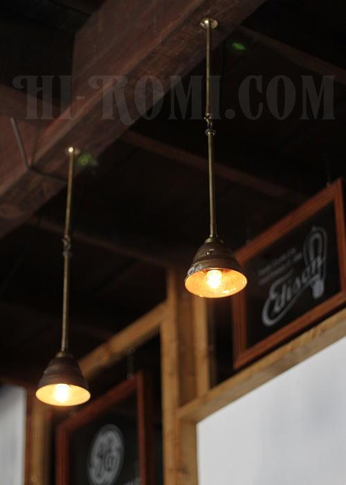 USA工業系真鍮吊下げ&壁掛ライトシェード付/アンティーク照明 照明計画 店舗設計 新築 新居 関西 神戸 Hi-Romi.com ハイロミドットコム 20130611-2