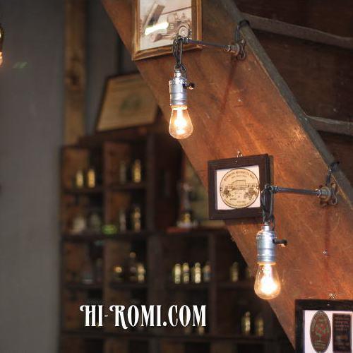ヴィンテージ工業系ウォールランプ兼用ペンダントライト/アンティークインダストリアル照明ブラケット/リメイクランプ&アンティーク照明/Hi-Romi.com(ハイロミドットコム)