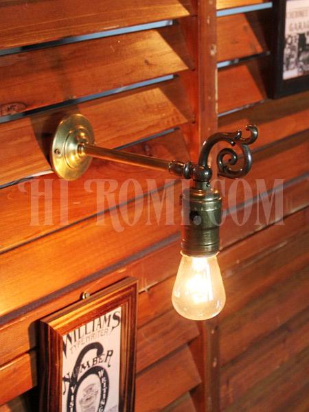 アンティーク ヴィンテージ 照明 ランプ 関西 神戸 Hi-Romi.com ハイロミドットコム 真鍮 ブラケット ヴィクトリアン ロココ ウォールランプ 壁掛け リノベーション 店舗設計 照明計画 リモデリング レストア リペア 修理