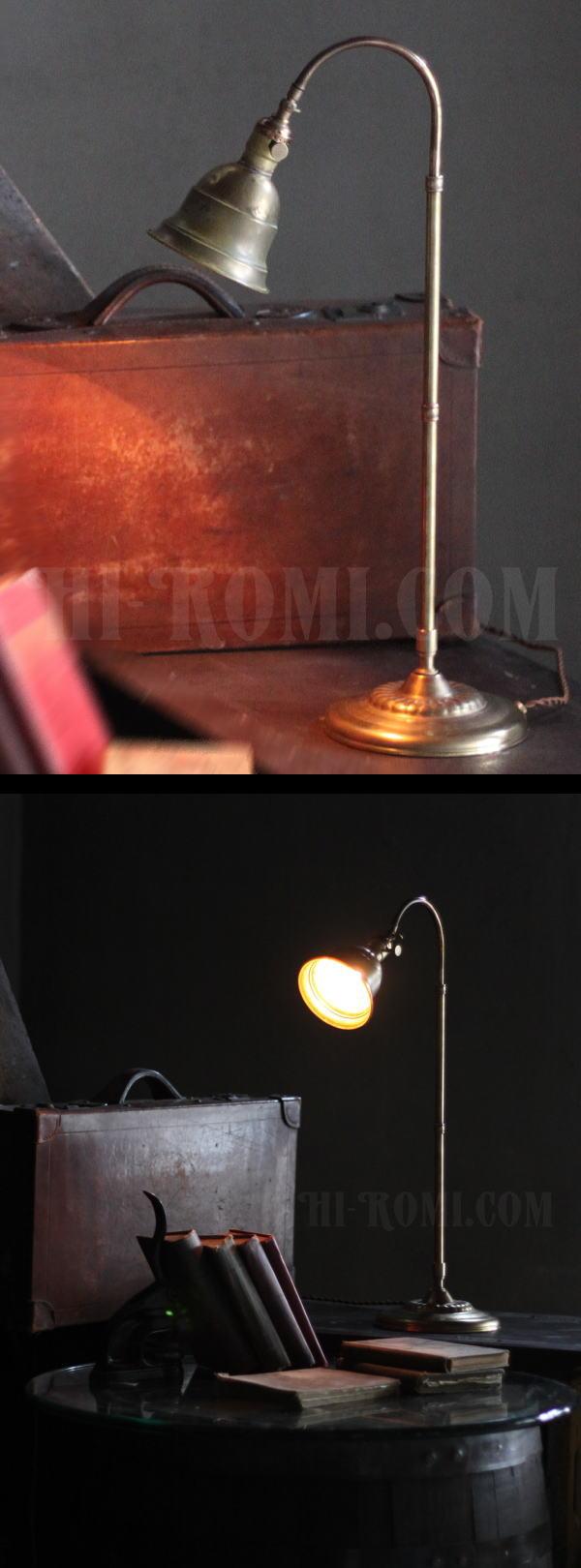 USAヴィンテージ角度調整付ファーマシー真鍮製テーブルライト/工業系アトリエ照明 20130619-1