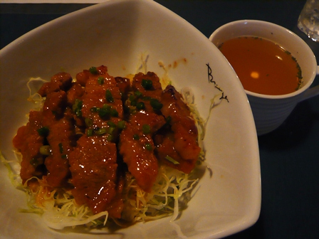geezer:豚味噌定食(スープ付)
