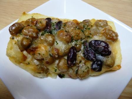 セブンベルズ:3種の豆とホワイトソースのタルティーヌ