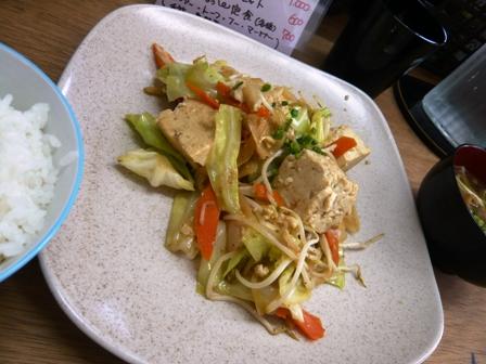 ゆがふぅふぅ:豆腐チャンプルー