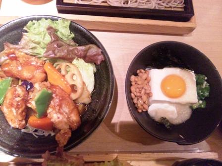 大戸屋:ネバネバ、鶏黒酢餡