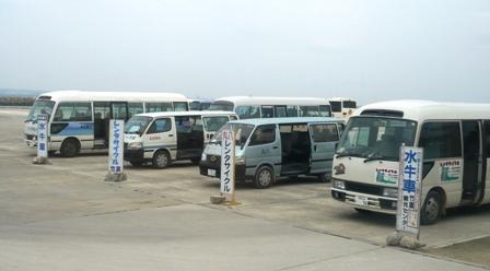 竹富島東港送迎バス乗り場