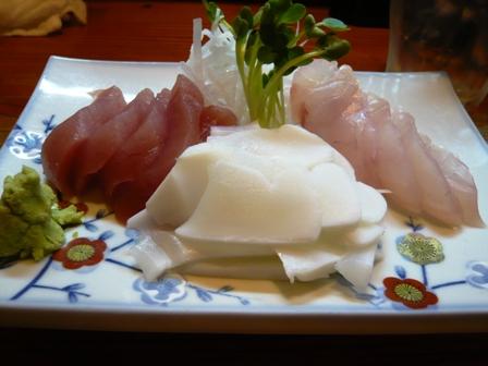 魚礁:刺身3点盛