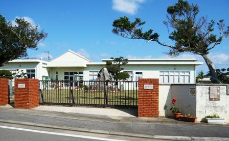 ヤシの木:付近;小浜小学校