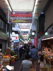 混んでる商店街