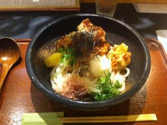 鶏天ぷらおろしぶっかけうどん
