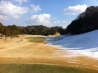 ゴルフ場雪