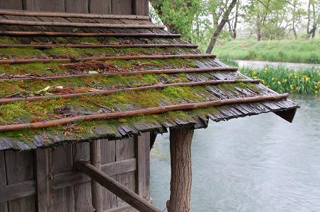 水車小屋に降る雨