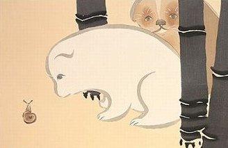 かわいい猫の日本画