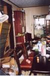 地震後の我が家
