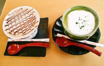 抹茶カプチーノ&カフェモカ