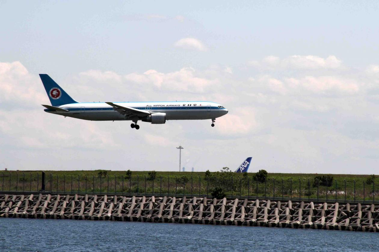 羽田の飛行機が見える公園で(2)