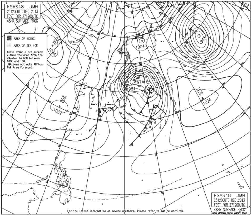 ■予想天気図 12月27日 編集
