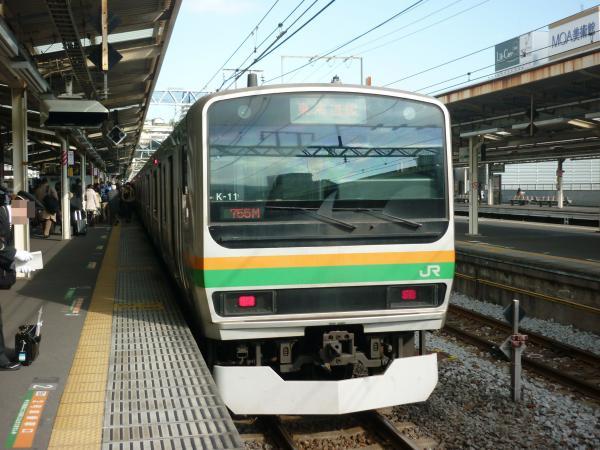2014-01-03 東海道線E231系 東京行き