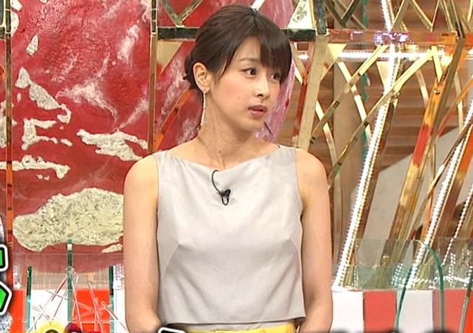 加藤綾子 乳首が透けているように見える服