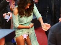 Eva Longoria(エヴァ・ロンゴリア)がカンヌ映画祭でドレスがめくれてマンチラしちゃうハプニング