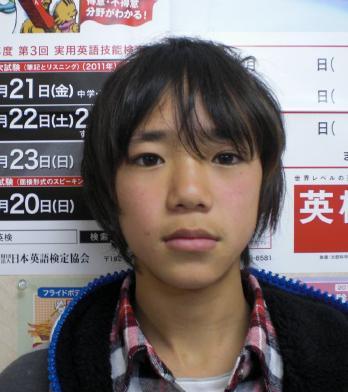 中学1年生の中川雄貴くん