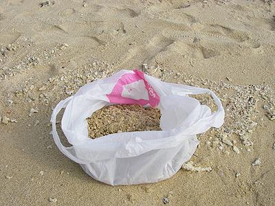 とりあえず砂