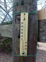 山頂の温度計