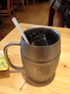 1.5倍サイズのアイスコーヒー